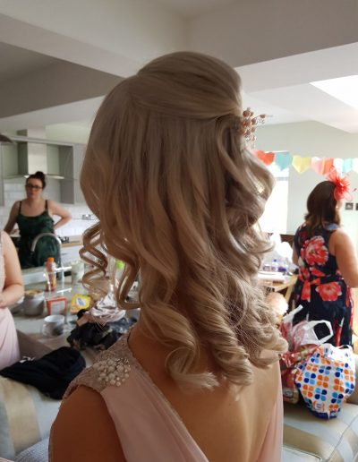 On Location Wedding Hair Styling in Cumbria