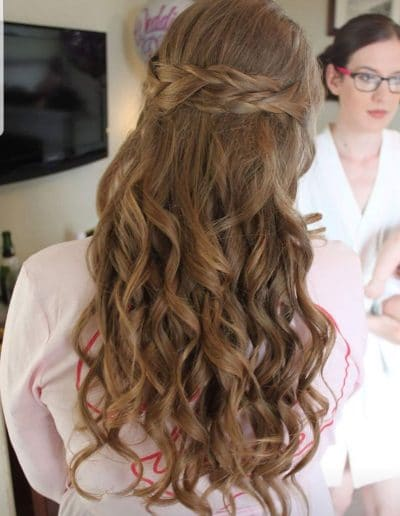 Wedding Bridal Hair Styling on location in the Lake District