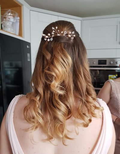 bridesmaid hair styling in the lake district