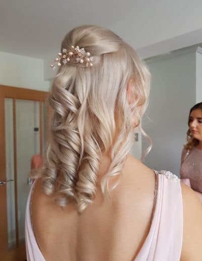 Wedding Day Bridal hair styling in Carlisle