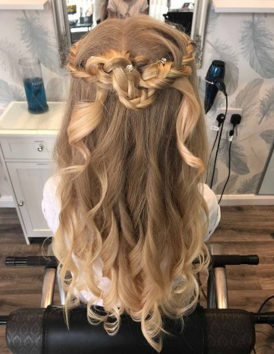 Bridal Hair Carlisle styling in zoes hair salon